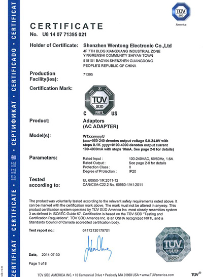 Wentong Electronics Germany GS Certification